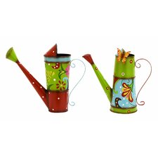 <strong>Woodland Imports</strong> 2 Piece Watering Can Set