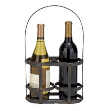 <strong>Woodland Imports</strong> 2 Bottle Tabletop Wine Basket