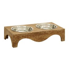 <strong>Woodland Imports</strong> Pet World Pet Feeder with 2 Food Bowls