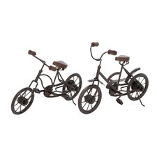 2 Piece Metal Racing Cycle Figurine