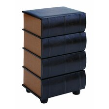 <strong>Woodland Imports</strong> Leather Books End Table