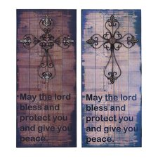 <strong>Woodland Imports</strong> 2 Piece Great Lords Blessing Wall Décor Set