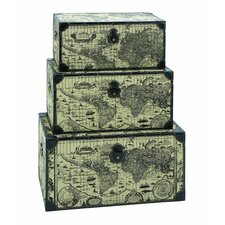 Ancient World Map 3 Piece Trunk