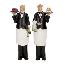 2 Piece Chef Figurine Set
