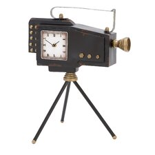 <strong>Woodland Imports</strong> Old World Metal Camera Clock