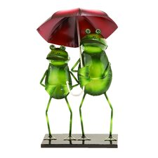 <strong>Woodland Imports</strong> Frogs on A Rainy Day Statue