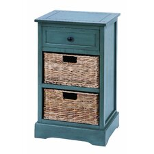 Cabinet with 2 Wicker Baskets