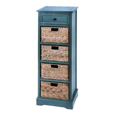 Cabinet with 4 Wicker Baskets