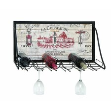 <strong>Woodland Imports</strong> Vintage Vineyard 6 Bottle Wall Mounted Wine Rack
