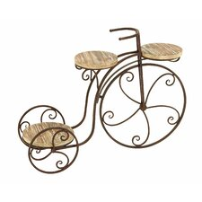 Garden Three Shelf Tricycle Planter Stand