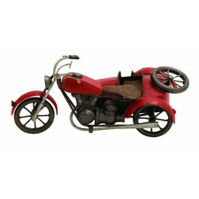 Vintage Motorcycle Sculpture