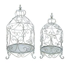 Kuga Bird Cage Standing Planter (Set of 2)