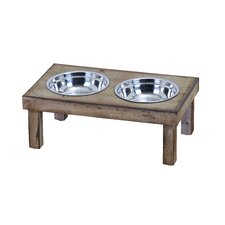 Pet Feeder with 2 Food Bowls
