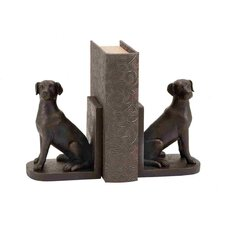 Library Polystone Dog Bookend Set