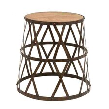 <strong>Woodland Imports</strong> Vintage Inspired Accent Stool