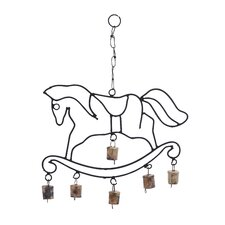 <strong>Woodland Imports</strong> Metal Horse Wind Chime