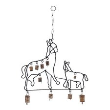 Metal Horse Wind Chime