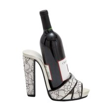 <strong>Woodland Imports</strong> 1 Bottle Tabletop Shoe Wine Holder