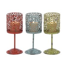 <strong>Woodland Imports</strong> Metal Lanterns (Set of 3)