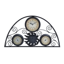 Metal Clock Thermometer