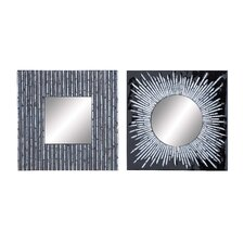 <strong>Woodland Imports</strong> 2 Piece Mirror Assorted Set