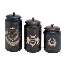 <strong>Woodland Imports</strong> 3 Piece Canister Set