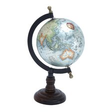 <strong>Woodland Imports</strong> Beautiful Metal Wood Globe