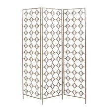 "<strong>Woodland Imports</strong> 71"" x 51"" 3 Panel Mirror Room Divider"