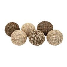 Decorative 6 Piece Ball Set