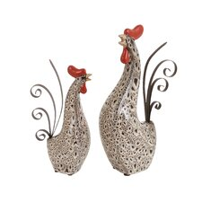 Rooster Statue (Set of 2)