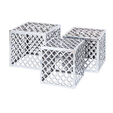 <strong>Woodland Imports</strong> Metal Stool (Set of 3)