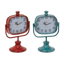<strong>Woodland Imports</strong> Durable Metal Clock (Set of 2)