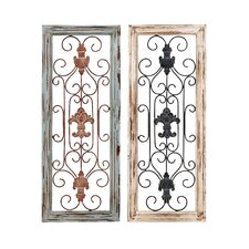 <strong>Woodland Imports</strong> Panel Wall Décor (Set of 2)
