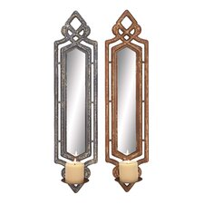 <strong>Woodland Imports</strong> Wood Sconces (Set of 2)