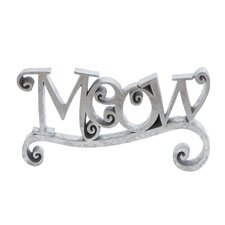 <strong>Woodland Imports</strong> Meow Decor Letter Block