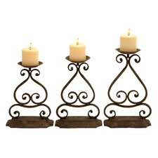 Metal Candlesticks (Set of 3)