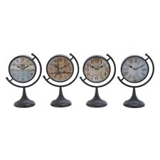 <strong>Woodland Imports</strong> Metal Desk Clock (Set of 4)