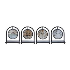 <strong>Woodland Imports</strong> French Metal Desk Clock (Set of 4)