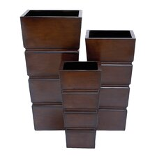3 Piece Square Planter Set