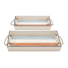 Wood Trays (Set of 2)