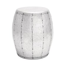 Barrel-Shaped Drum Design Metal Stool