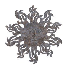 Metal Sun Wall Décor