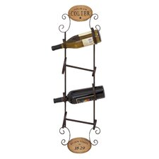 <strong>Woodland Imports</strong> 4 Bottle Wall Mount Wine Rack