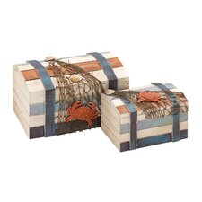 Box with Shipwreck Salvage (Set of 2)