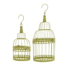 2 Piece Circular Decorative Bird Cage