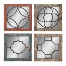 <strong>Woodland Imports</strong> 4 Piece Mirror Set