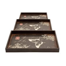 Decorated Trays (Set of 3)