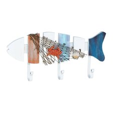 Beautiful Fish Shaped Wood Metal Fish Hooks