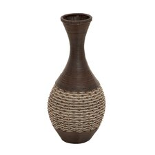 Wood Polyresin Vase