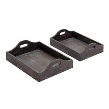 <strong>Woodland Imports</strong> Trays (Set of 2)
